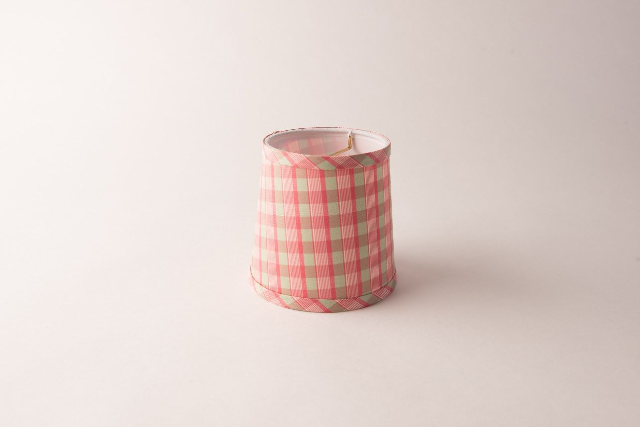 Drum Plaid Pink and Green Chandelier