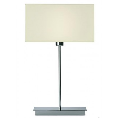 Chrome Table Lamp with Rectangular Shade