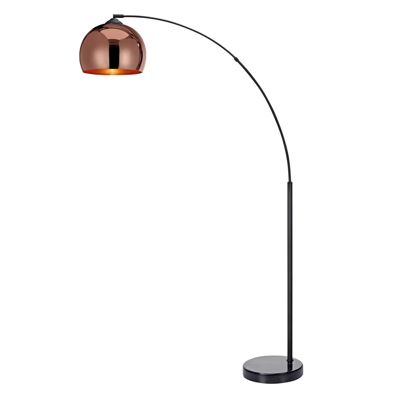 "Arquer 66.93"" Arched Copper Metal Floor Lamp"